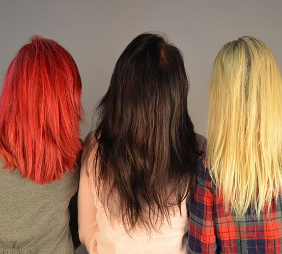 Three different hair colors we offer