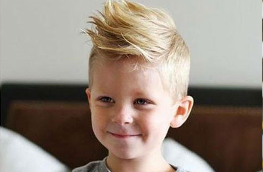 Child with a new haircut on gallery