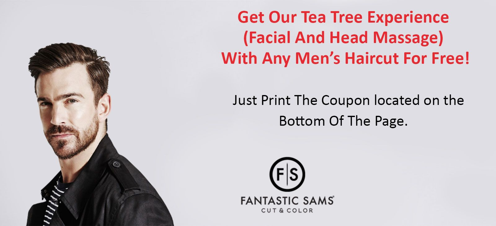 Tea Tree Experience Coupon For Fantastic Sams on Sahara